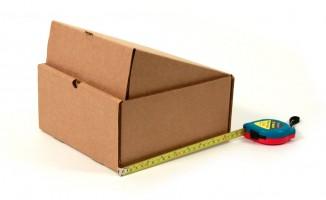 самосборная коробка из гофрокартона с откидной крышкой