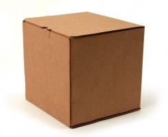 самосборная картонная коробка кубической формы