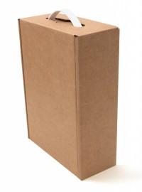 самосборная картонная коробка (бизнес-бокс А4)