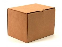 закрытая самосборная коробка с откидной крышкой