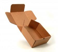 заготовка для сборки картонной коробки с откидной крышкой