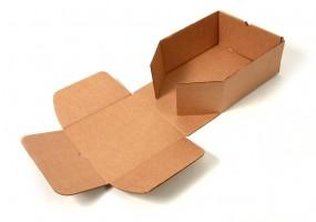 картонная заготовка для сборки коробки с откидной крышкой