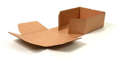 заготовка из гофрокартона для сборки коробки с откидной крышкой
