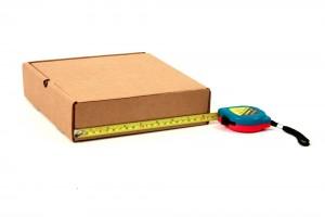 квадратная самосборная коробка из картона