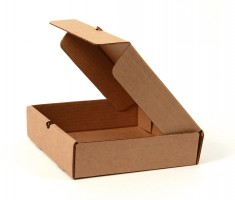 открытая плоская самосборная коробка