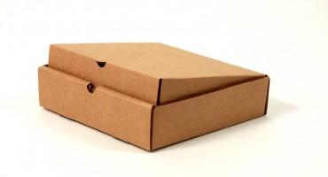 картонная самосборная коробка плоской формы
